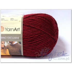 Merino Exclusive włóczka 100g kol. 761 bordo