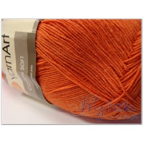 Cotton Soft Yarn Art włóczka 100g kol. 24 rudy
