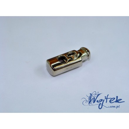 stoper do sznurka 23x9x7mm metal srebrny