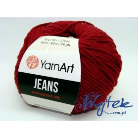 Jeans Yarn Art włóczka 50g kol. 66 bordo